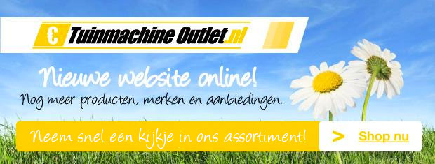 Nieuwe website tuinmachine outlet